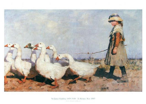 James Guthrie Geese To Pastures New Poster