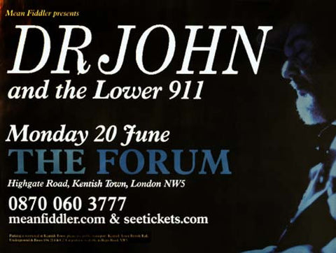 Dr. JOHN AT THE FORUM BIG 30x40 POSTER