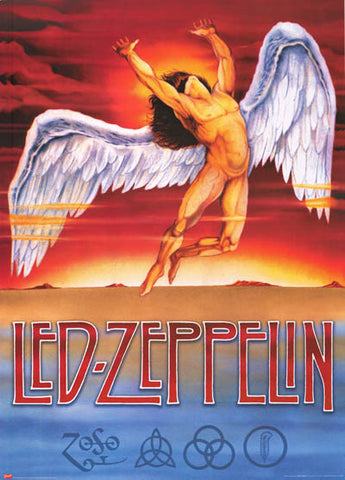 Led Zeppelin Swan Song ZOSO XL 38x53 Giant Poster