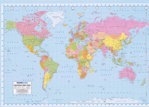 Political world map xl giant poster 39x55 bananaroad world map poster gumiabroncs