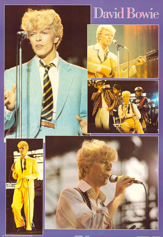 David Bowie - Live Shots Collage Poster 24x35