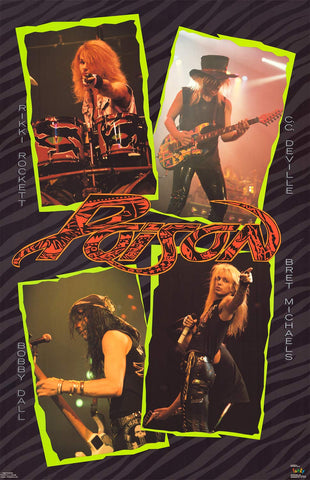 Poison Hair Band Supreme Bret Michaels '89 22x35 Poster