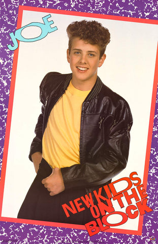 New Kids on the Block Joey McIntyre 1989 Poster 22x34