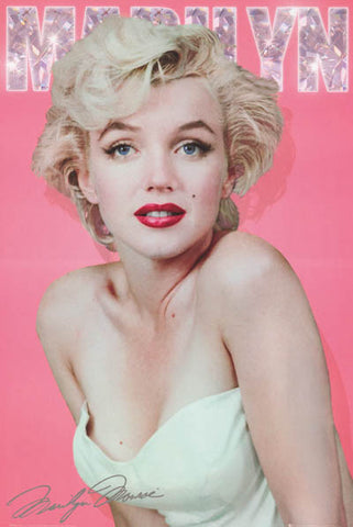 Marilyn Monroe Diamonds Portrait Poster