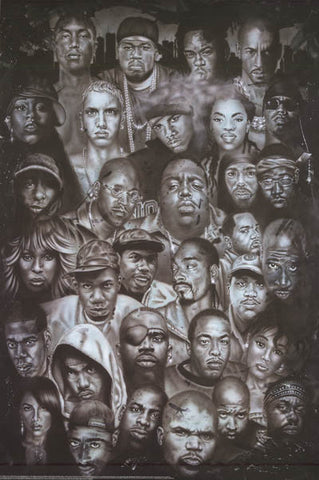 Rap Gods Hip Hop Hall of Fame Poster