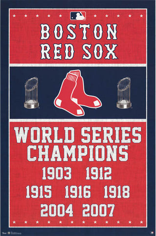 Boston Red Sox World Series Poster