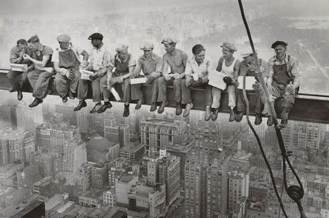 Men on a Beam Rockefeller Center no border 24x36 Poster