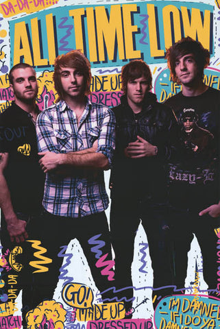All Time Low Graffiti Band Alex Gaskarth 24x36 Poster