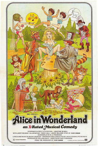 Alice in Wonderland X-Rated Movie Poster