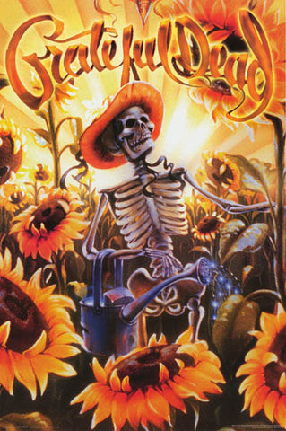 Grateful Dead Sunflower Harvest Poster
