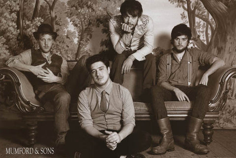Mumford and Sons Nashville Class b/w 24x36 Poster