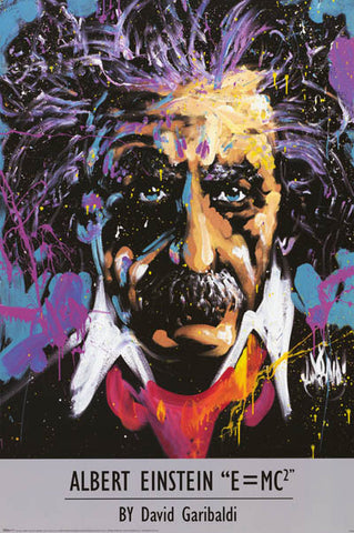 Albert Einstein David Garibaldi Art Poster