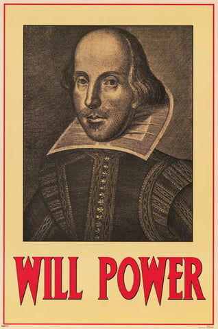 William Shakespeare Will Power Portrait 24x36 Poster