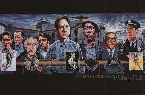 Shawshank Redemption Get Busy Justin Reed 24x36 Poster