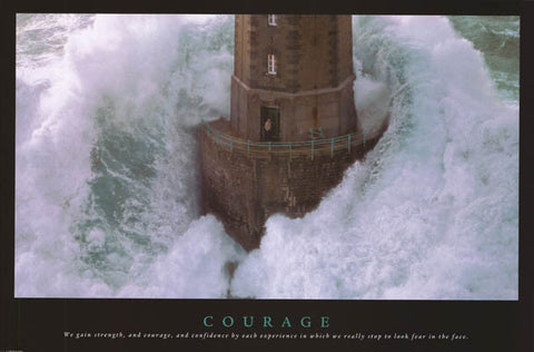 Courage Inspirational Quote Poster