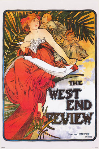 Alphonse Mucha West End Review Poster