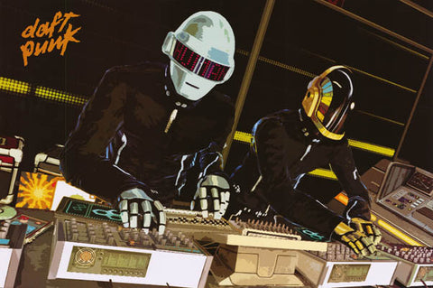 Daft Punk Motherboard Thomas Guy-Manuel 24x36 Poster