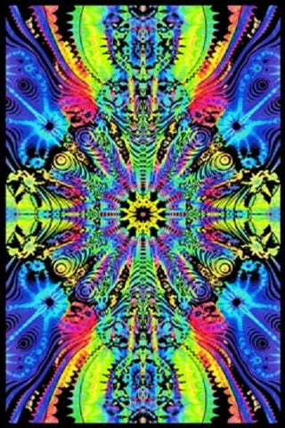 Wormhole Psychedelic Style 23x35 Felt Blacklight Poster