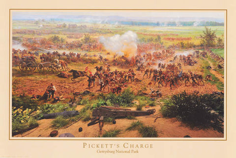 Civil War Gettysburg Picketts Charge Poster