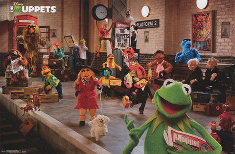 Muppets Most Wanted Train Station Cast Poster 24x34