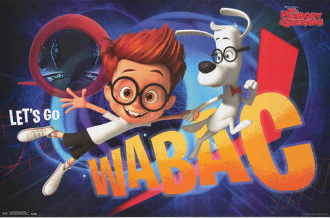 Mr Peabody and Sherman WABAC Machine Movie Poster 22x34