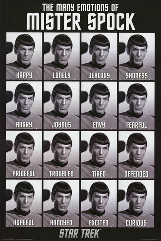 Star Trek Many Emotions of Spock Poster