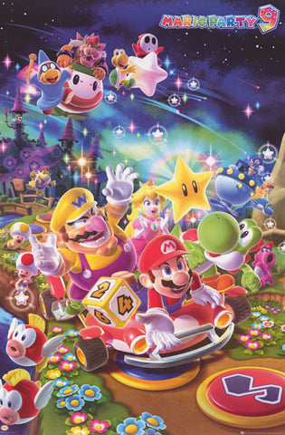 Super Mario Party 9 Video Game Poster