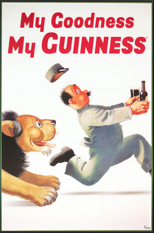 Guinness Beer My Goodness Lion Poster
