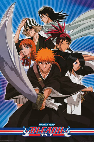 Shonen Jump Bleach Anime Cartoon Poster