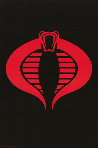 GI Joe Cobra Logo Poster
