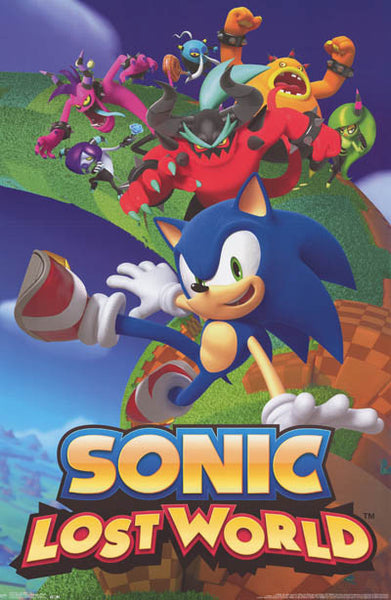 Sonic The Hedgehog Lost World Video Game Poster 22x34 Bananaroad