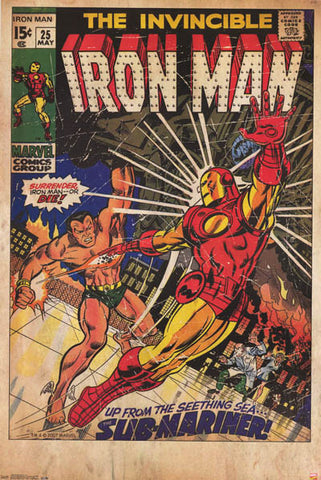 Iron Man Marvel Comics Poster