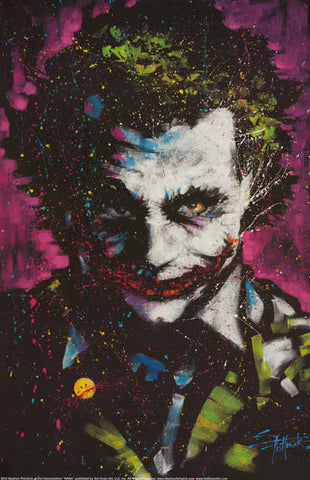 Batman The Joker Stephen Fishwick Art DC Comics Poster 24x36