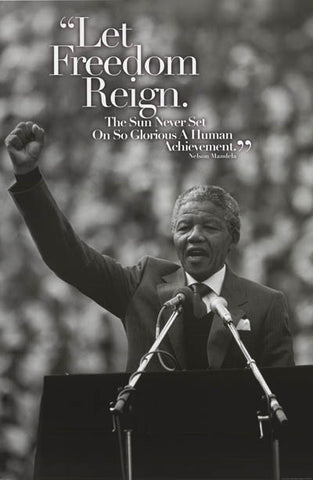 Nelson Mandela Quote Poster
