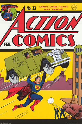Superman Action Comics # 33 Poster