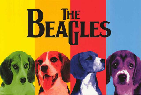 The Beagles Beatles Dog Parody Poster