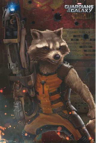 Guardians of the Galaxy Rocket Racoon Poster