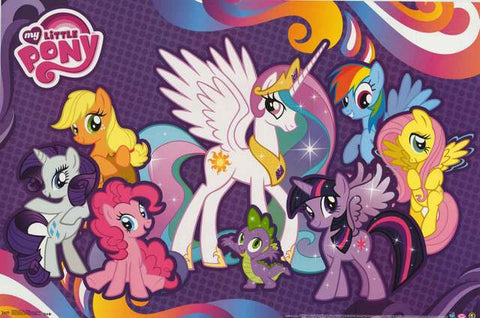 My Little Pony Cartoon Poster