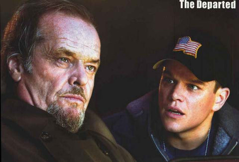 The Departed Jack Nicholson and Matt Damon Movie Poster 23x34