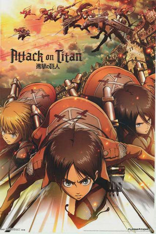 Attack on Titan Anime Cartoon Poster
