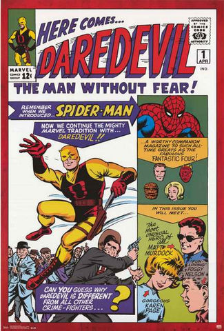 Daredevil Marvel Comics Poster