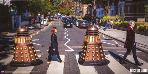 Doctor Who Abbey Road Poster