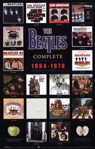 THE BEATLES US ALBUM COVERS 1964-1970 23x34 POSTER