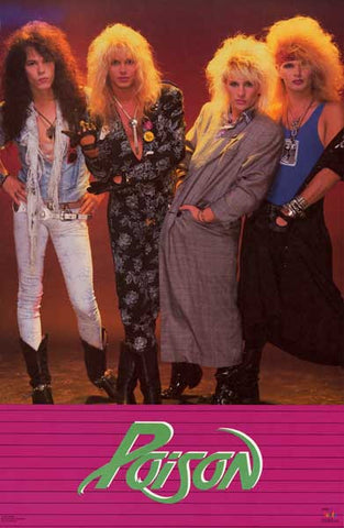 Poison Hair Band Supreme Bret Michaels '87 22x35 Poster