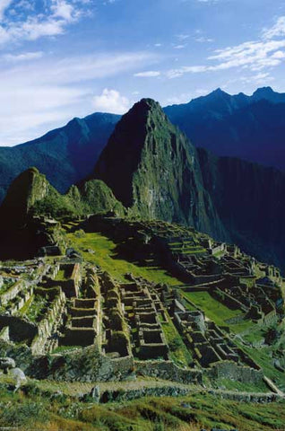 MACHU PICCHU INCA RUINS ANDES MOUNTAINS 24x36 POSTER