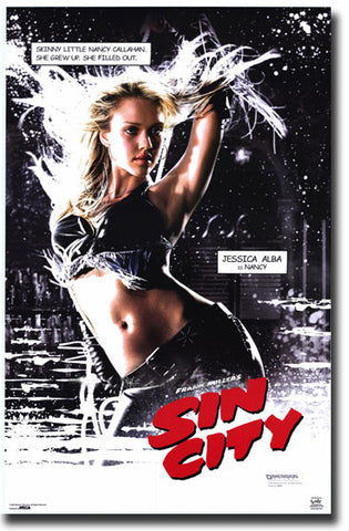 Sin City Jessica Alba Movie Poster