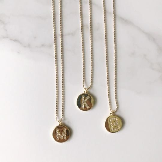 Pave Initial Necklace
