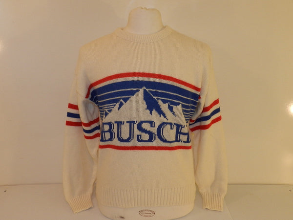 Vintage Busch Beer Ski Sweater