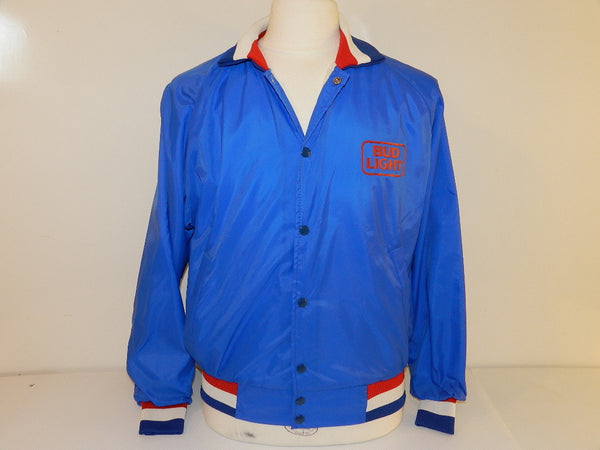 Vintage Bud Light Beer Coaches Jacket