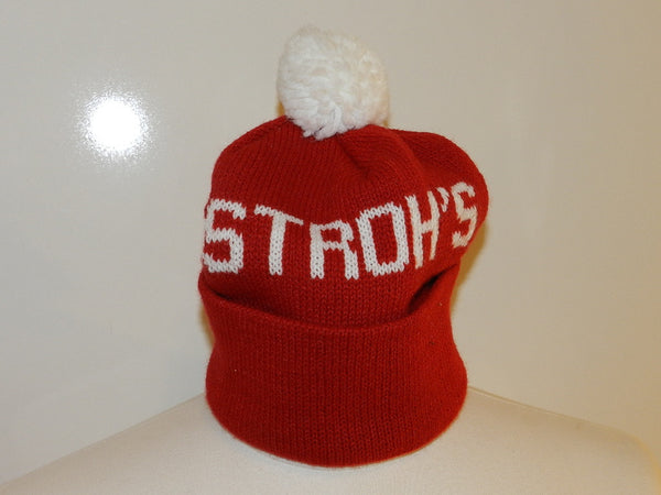 Vintage Strohs Winter Hat With Pom Pom